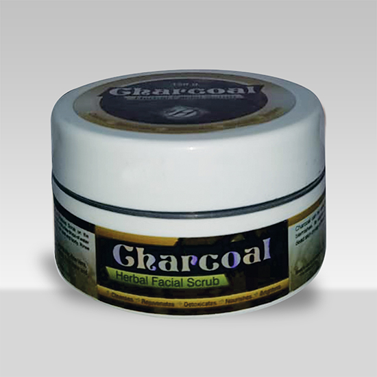 Charcoal Herbal Facial Scrub-0