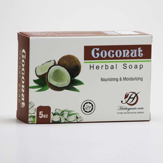 Coconut Herbal Soap (140gm)